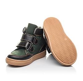Детские демисезонные ботинки Woopy Fashion зеленые для мальчиков натуральный нубук размер 22-33 (4315) Фото 2