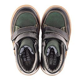 Детские демисезонные ботинки Woopy Fashion зеленые для мальчиков натуральный нубук размер 22-33 (4315) Фото 5