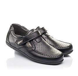 Детские туфли Woopy Fashion черные для мальчиков натуральная кожа размер 29-36 (4316) Фото 1