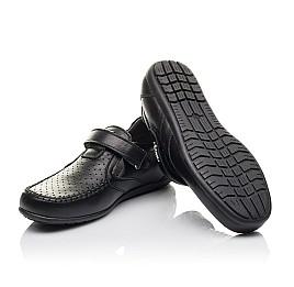 Детские туфли Woopy Fashion черные для мальчиков натуральная кожа размер 29-36 (4316) Фото 2
