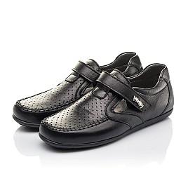 Детские туфли Woopy Fashion черные для мальчиков натуральная кожа размер 29-36 (4316) Фото 3