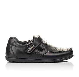 Детские туфли Woopy Fashion черные для мальчиков натуральная кожа размер 29-36 (4316) Фото 4