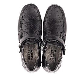 Детские туфли Woopy Fashion черные для мальчиков натуральная кожа размер 29-36 (4316) Фото 5