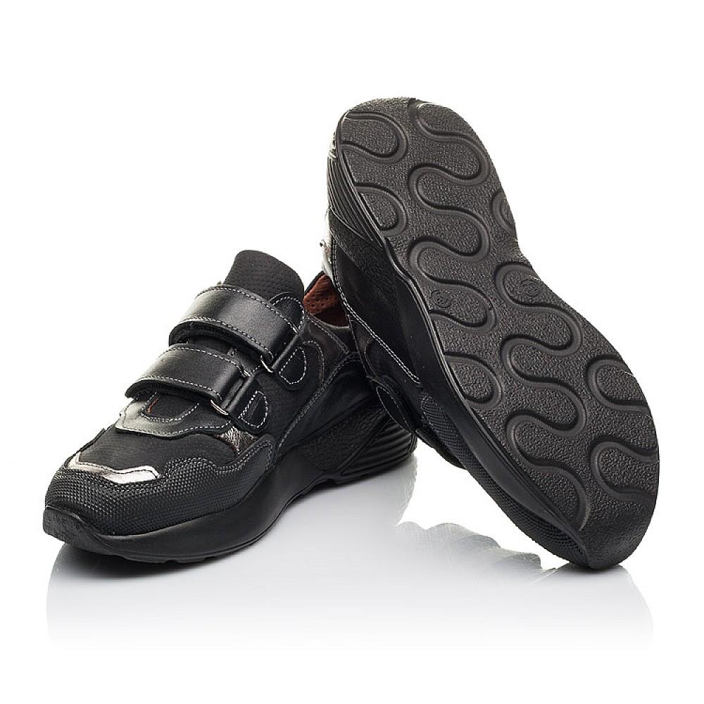 Детские кроссовки Woopy Fashion черные для мальчиков натуральный нубук размер 31-36 (4317) Фото 2