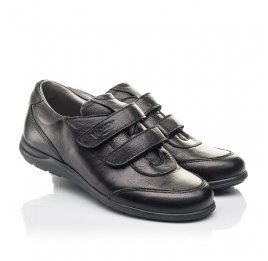 Детские туфли Woopy Fashion черные для мальчиков натуральная кожа размер 33-36 (4318) Фото 1
