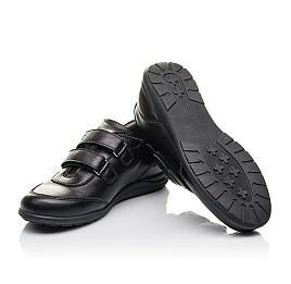 Детские туфли Woopy Fashion черные для мальчиков натуральная кожа размер 33-36 (4318) Фото 2