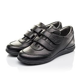 Детские туфли Woopy Fashion черные для мальчиков натуральная кожа размер 33-36 (4318) Фото 3