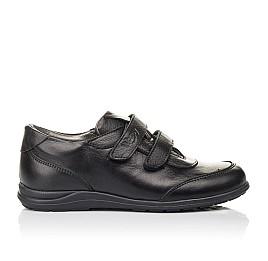 Детские туфли Woopy Fashion черные для мальчиков натуральная кожа размер 33-36 (4318) Фото 4