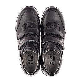 Детские туфли Woopy Fashion черные для мальчиков натуральная кожа размер 33-36 (4318) Фото 5