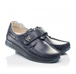 Детские туфли Woopy Fashion синие для мальчиков натуральная кожа размер 39-39 (4319) Фото 1