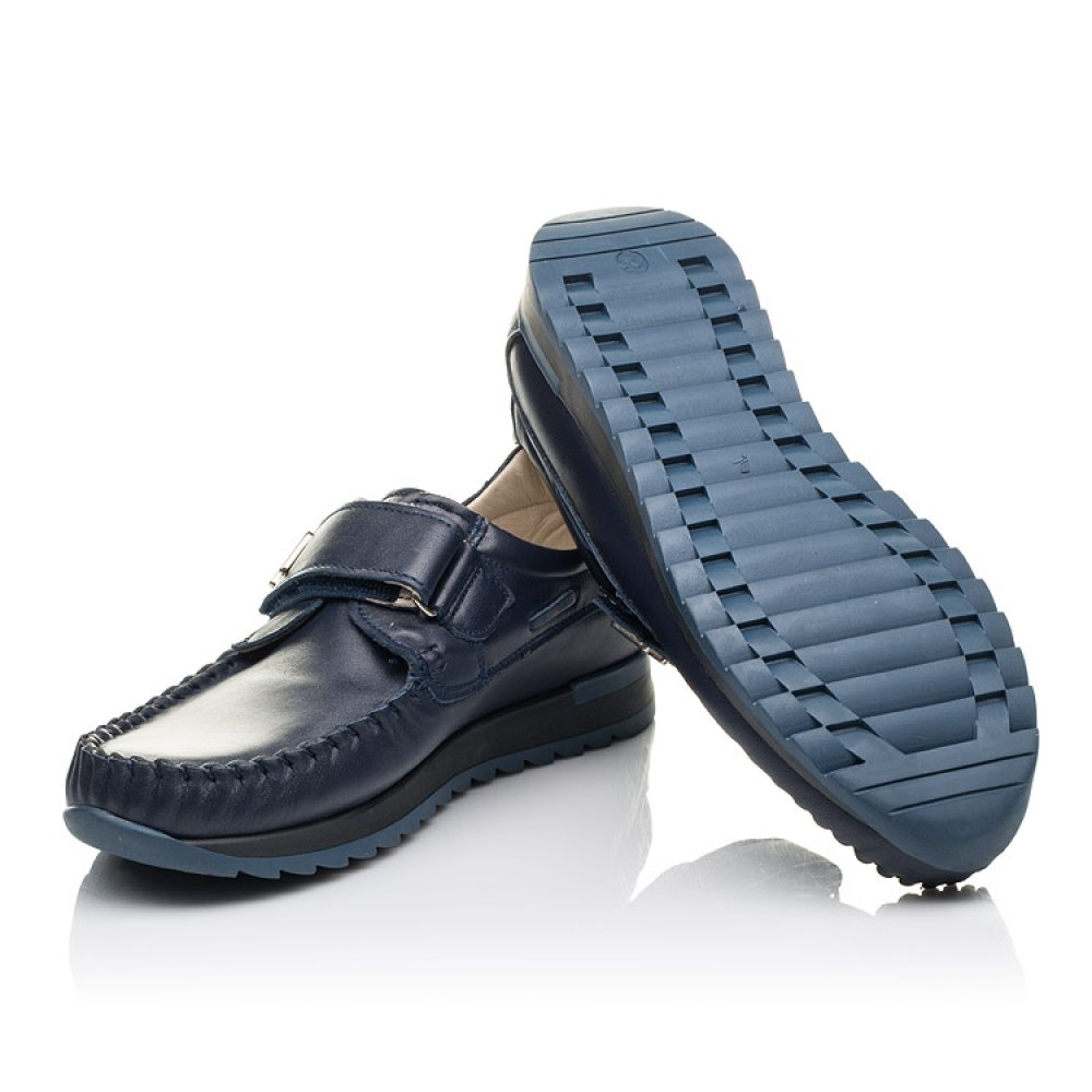 Детские туфли Woopy Fashion синие для мальчиков натуральная кожа размер 30-39 (4319) Фото 2
