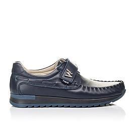 Детские туфли Woopy Fashion синие для мальчиков натуральная кожа размер 39-39 (4319) Фото 4