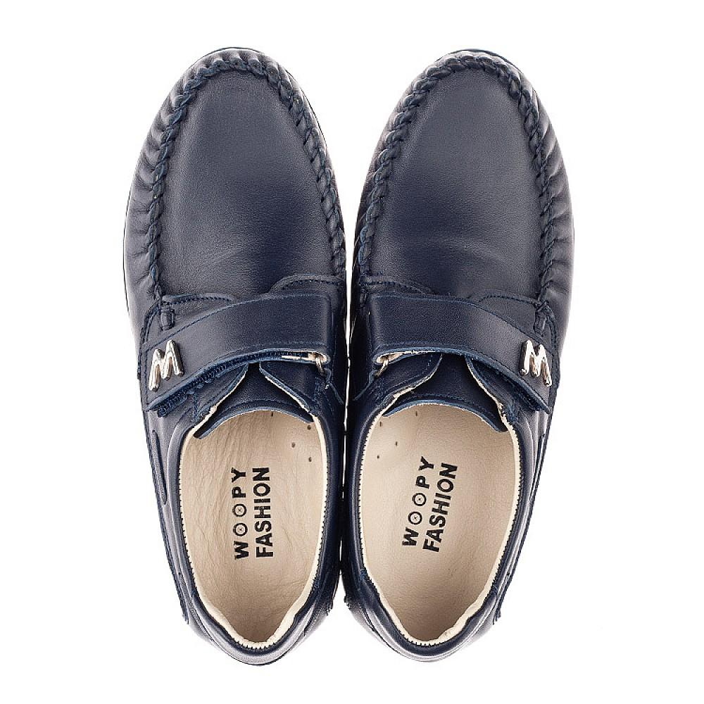 Детские туфли Woopy Fashion синие для мальчиков натуральная кожа размер 30-39 (4319) Фото 5
