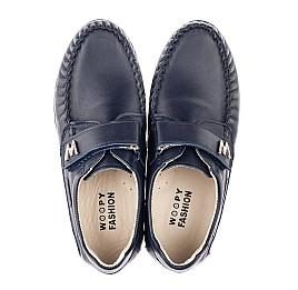 Детские туфли Woopy Fashion синие для мальчиков натуральная кожа размер 39-39 (4319) Фото 5
