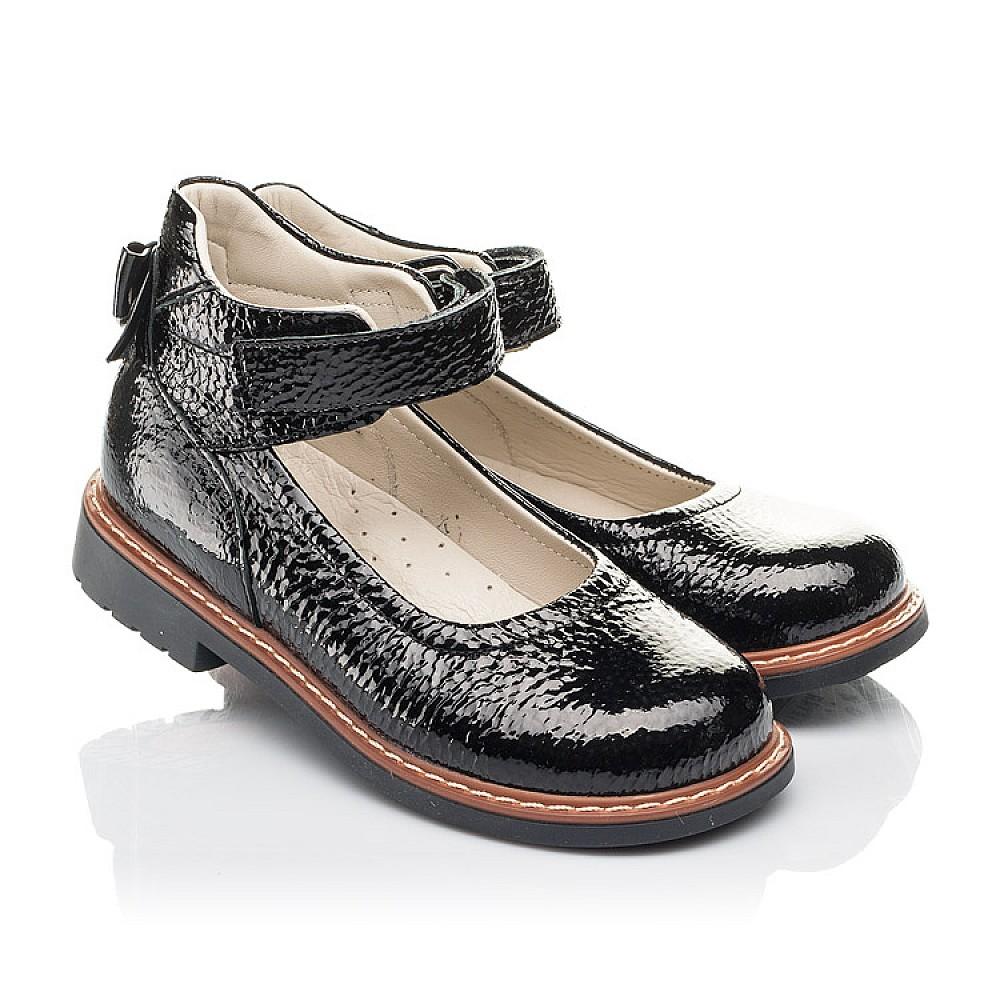 Детские туфли Woopy Fashion черные для девочек натуральная лаковая кожа размер 29-36 (4320) Фото 1