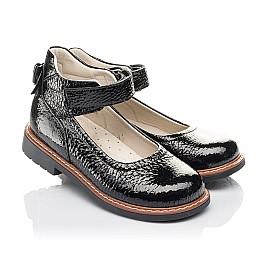 Детские туфли Woopy Fashion черные для девочек натуральная лаковая кожа размер 36-36 (4320) Фото 1