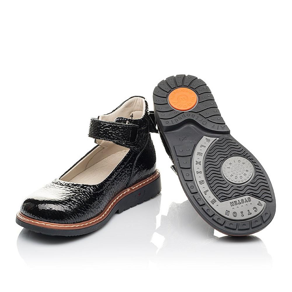 Детские туфли Woopy Fashion черные для девочек натуральная лаковая кожа размер 29-36 (4320) Фото 2