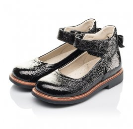 Детские туфли Woopy Fashion черные для девочек натуральная лаковая кожа размер 29-36 (4320) Фото 3