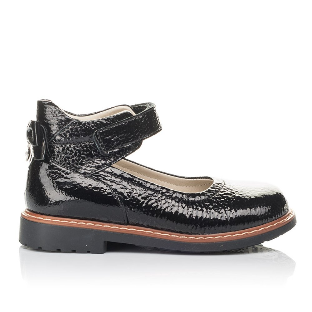 Детские туфли Woopy Fashion черные для девочек натуральная лаковая кожа размер 29-36 (4320) Фото 4