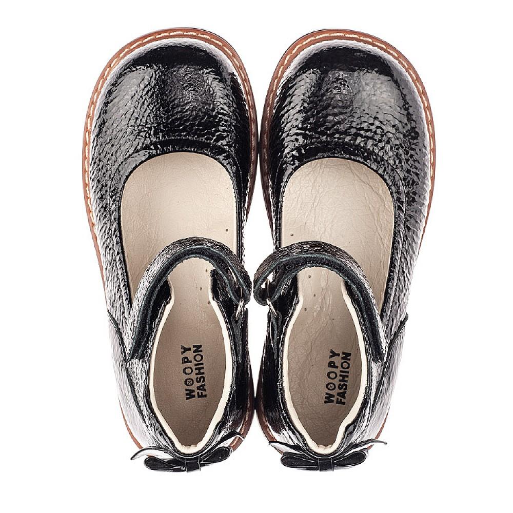 Детские туфли Woopy Fashion черные для девочек натуральная лаковая кожа размер 29-36 (4320) Фото 5
