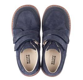 Детские туфли Woopy Fashion синие для мальчиков натуральный нубук размер 26-29 (4321) Фото 5