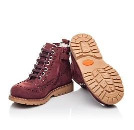 Детские демисезонные ботинки Woopy Fashion бордовые для девочек натуральный нубук размер 24-27 (4322) Фото 2