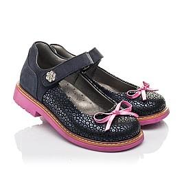 Детские туфли Woopy Fashion синие для девочек натуральный нубук размер 24-36 (4323) Фото 1