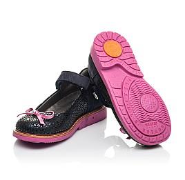 Детские туфли Woopy Fashion синие для девочек натуральный нубук размер 24-36 (4323) Фото 2