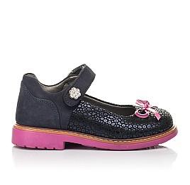 Детские туфли Woopy Fashion синие для девочек натуральный нубук размер 24-36 (4323) Фото 4