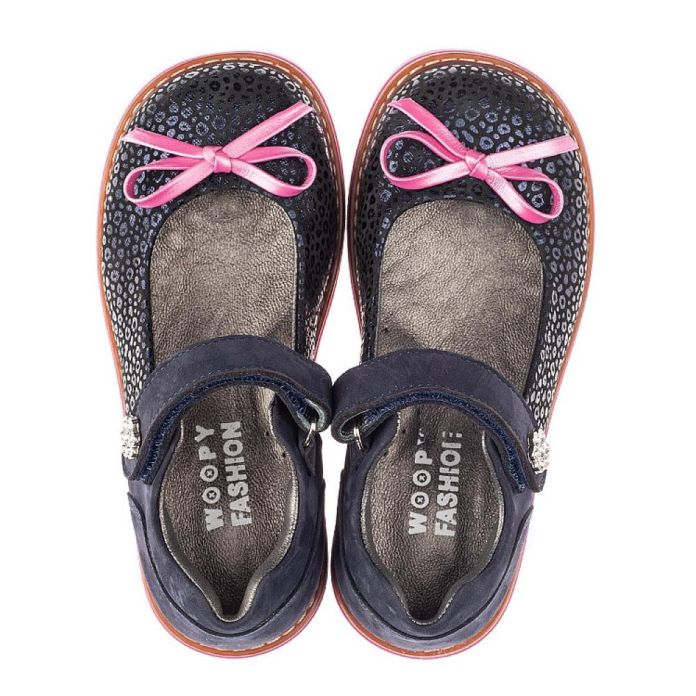 Детские туфли Woopy Fashion синие для девочек натуральный нубук размер 24-36 (4323) Фото 5