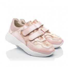 Детские кроссовки Woopy Fashion розовые для девочек натуральная кожа размер 29-39 (4324) Фото 1