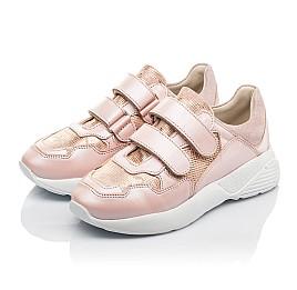 Детские кроссовки Woopy Fashion розовые для девочек натуральная кожа размер 29-39 (4324) Фото 3