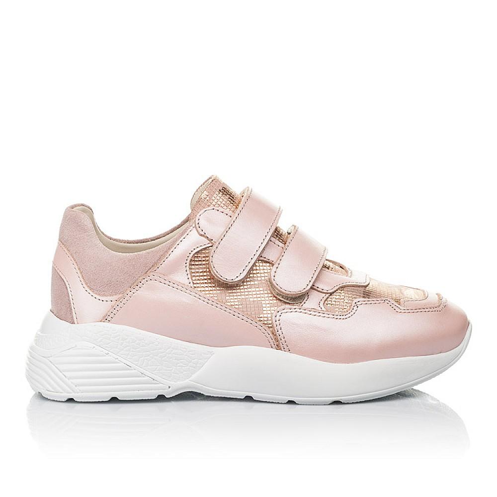 Детские кроссовки Woopy Fashion розовые для девочек натуральная кожа размер 29-39 (4324) Фото 4