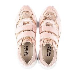 Детские кроссовки Woopy Fashion розовые для девочек натуральная кожа размер 29-39 (4324) Фото 5