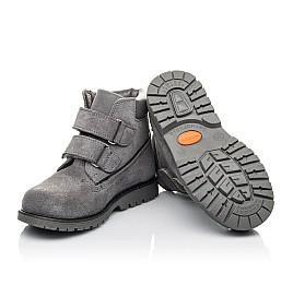 Детские демисезонные ботинки Woopy Fashion серые для девочек натуральный нубук размер 26-33 (4325) Фото 2