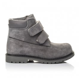 Детские демисезонные ботинки Woopy Fashion серые для девочек натуральный нубук размер 26-33 (4325) Фото 4