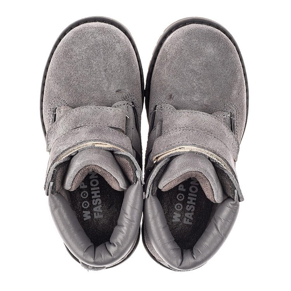 Детские демисезонные ботинки Woopy Fashion серые для девочек натуральный нубук размер 26-33 (4325) Фото 5