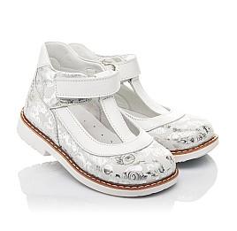 Детские туфли Woopy Fashion серебряные для девочек натуральный нубук размер 23-33 (4326) Фото 1