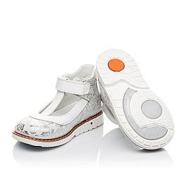 Детские туфли Woopy Fashion серебряные для девочек натуральный нубук размер 23-33 (4326) Фото 2