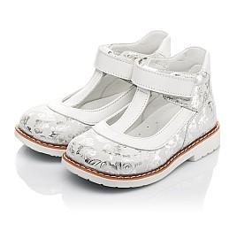 Детские туфли Woopy Fashion серебряные для девочек натуральный нубук размер 23-33 (4326) Фото 3