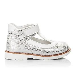 Детские туфли Woopy Fashion серебряные для девочек натуральный нубук размер 23-33 (4326) Фото 4