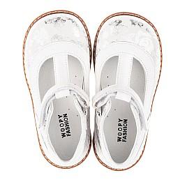 Детские туфли Woopy Fashion серебряные для девочек натуральный нубук размер 23-33 (4326) Фото 5