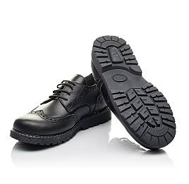 Детские туфли (шнурок резинка) Woopy Fashion черные для мальчиков натуральная кожа размер 32-38 (4327) Фото 2