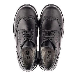 Детские туфли (шнурок резинка) Woopy Fashion черные для мальчиков натуральная кожа размер 32-38 (4327) Фото 5