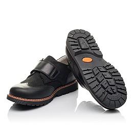 Детские туфли Woopy Fashion черные для мальчиков натуральная кожа и нубук размер 39-39 (4329) Фото 2