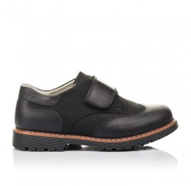 Детские туфли Woopy Fashion черные для мальчиков натуральная кожа и нубук размер 39-39 (4329) Фото 4