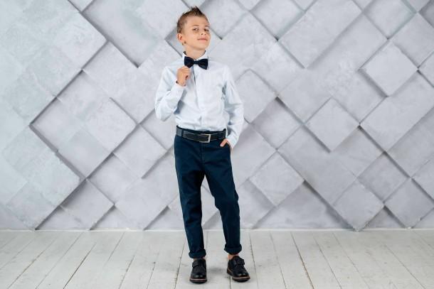 Мальчик обут в детские туфли Woopy Fashion черные (4329) Фото 1