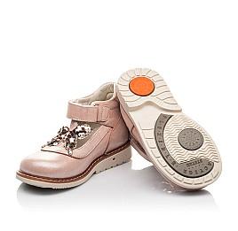 Детские туфли Woopy Fashion бежевые для девочек натуральный нубук размер 18-23 (4332) Фото 2