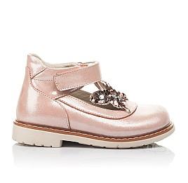 Детские туфли Woopy Fashion бежевые для девочек натуральный нубук размер 18-23 (4332) Фото 4