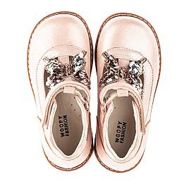 Детские туфли Woopy Fashion бежевые для девочек натуральный нубук размер 18-23 (4332) Фото 5